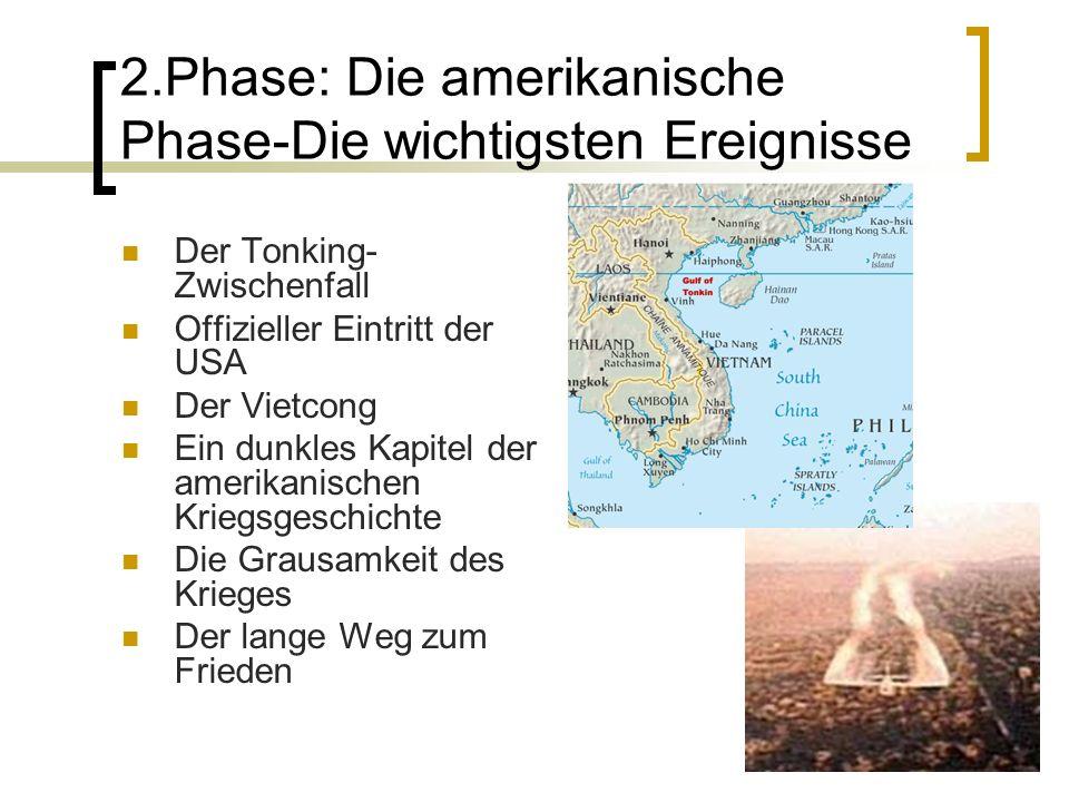 3.Phase: Vietnamesische Phase Ehrenvoller Friede (Rückzug der USA) Bürgerkrieg Nordvietnam erobert den Süden