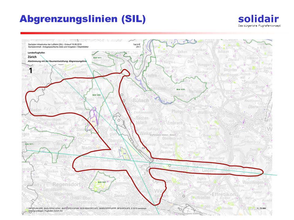 solidair Das bürgerliche Flughafenkonzept Abgrenzungslinien (SIL)
