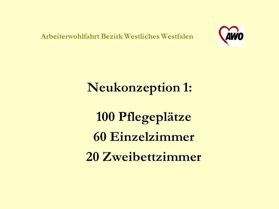 Arbeiterwohlfahrt Bezirk Westliches Westfalen Neukonzeption 2: Neuorganisation von Funktionsräumen Schaffung zusätzlicher Nasszellen