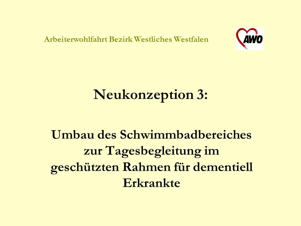 Arbeiterwohlfahrt Bezirk Westliches Westfalen Neukonzeption 3: Umbau des Schwimmbadbereiches zur Tagesbegleitung im geschützten Rahmen für dementiell Erkrankte