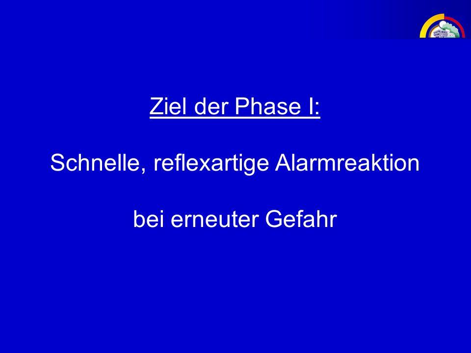 Ziel der Phase I: Schnelle, reflexartige Alarmreaktion bei erneuter Gefahr