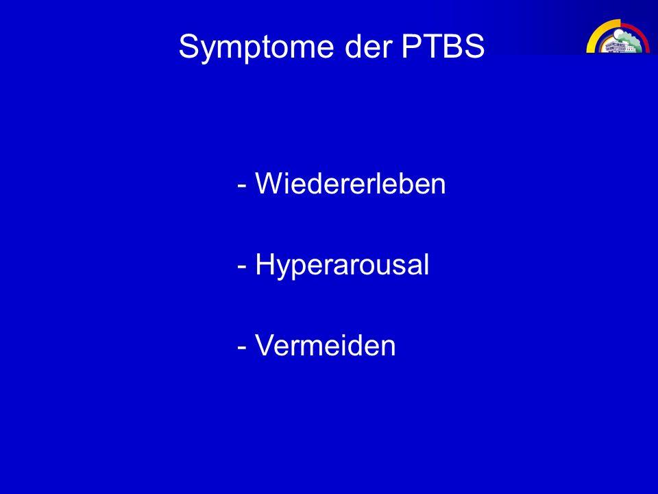 Symptome der PTBS - Hyperarousal - Wiedererleben - Vermeiden