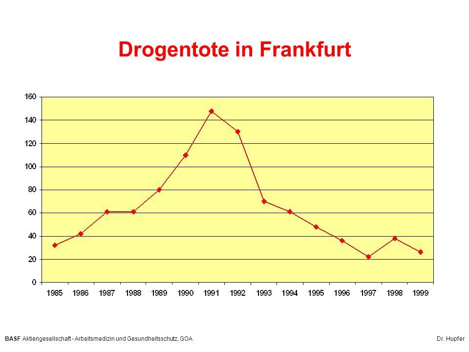 BASF Aktiengesellschaft - Arbeitsmedizin und Gesundheitsschutz, GOA Dr. Hupfer Drogentote in Frankfurt