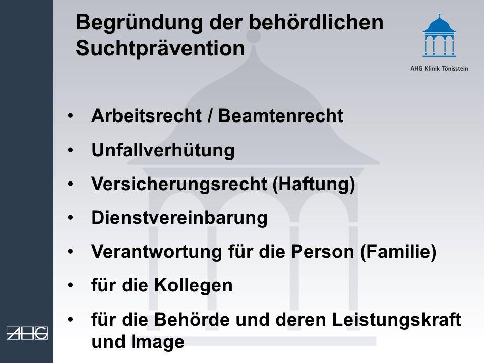 Arbeitsrecht / Beamtenrecht Unfallverhütung Versicherungsrecht (Haftung) Dienstvereinbarung Verantwortung für die Person (Familie) für die Kollegen fü