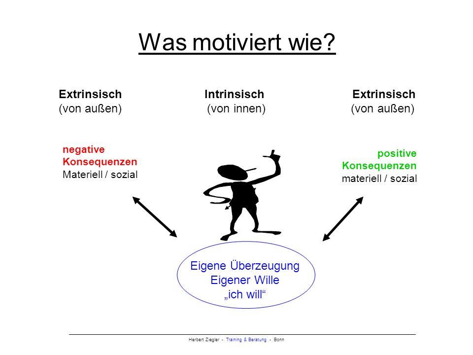 Herbert Ziegler - Training & Beratung - Bonn Was motiviert wie.