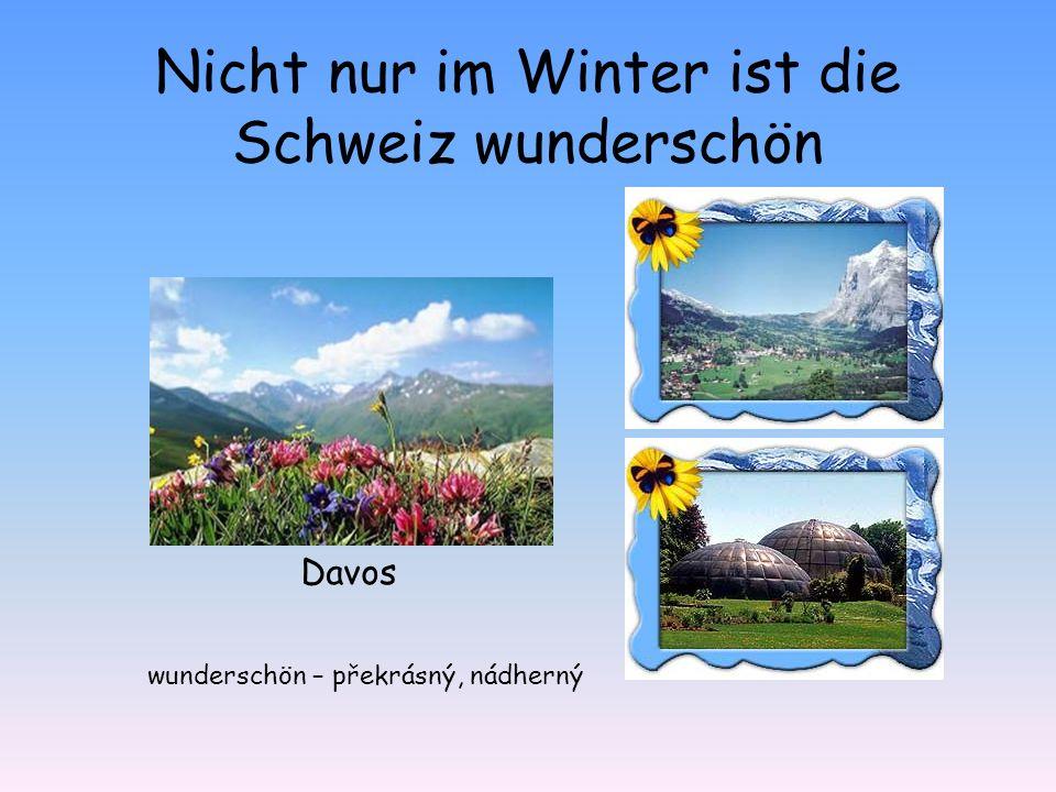 Davos Nicht nur im Winter ist die Schweiz wunderschön wunderschön – překrásný, nádherný