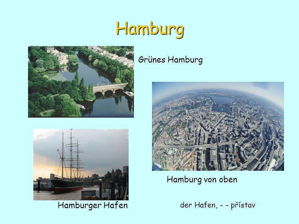 Hamburg Hamburger Hafen Hamburg von oben Grünes Hamburg der Hafen, - - přístav