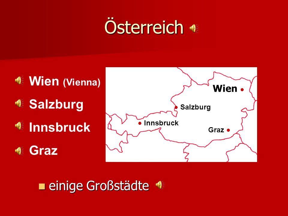 Österreich Wien Wien (Vienna) Salzburg Innsbruck Graz einige Großstädte Salzburg Innsbruck Graz
