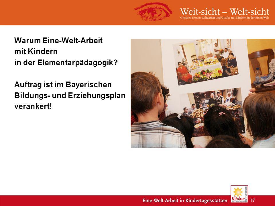 Warum Eine-Welt-Arbeit mit Kindern in der Elementarpädagogik.