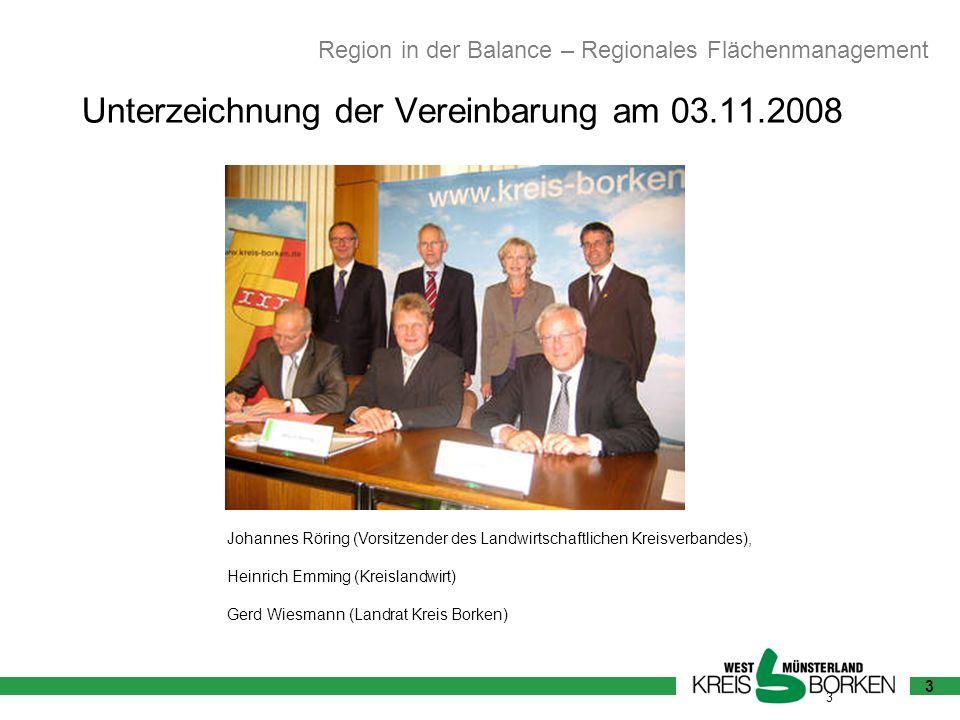 3 Johannes Röring (Vorsitzender des Landwirtschaftlichen Kreisverbandes), Heinrich Emming (Kreislandwirt) Gerd Wiesmann (Landrat Kreis Borken) Region