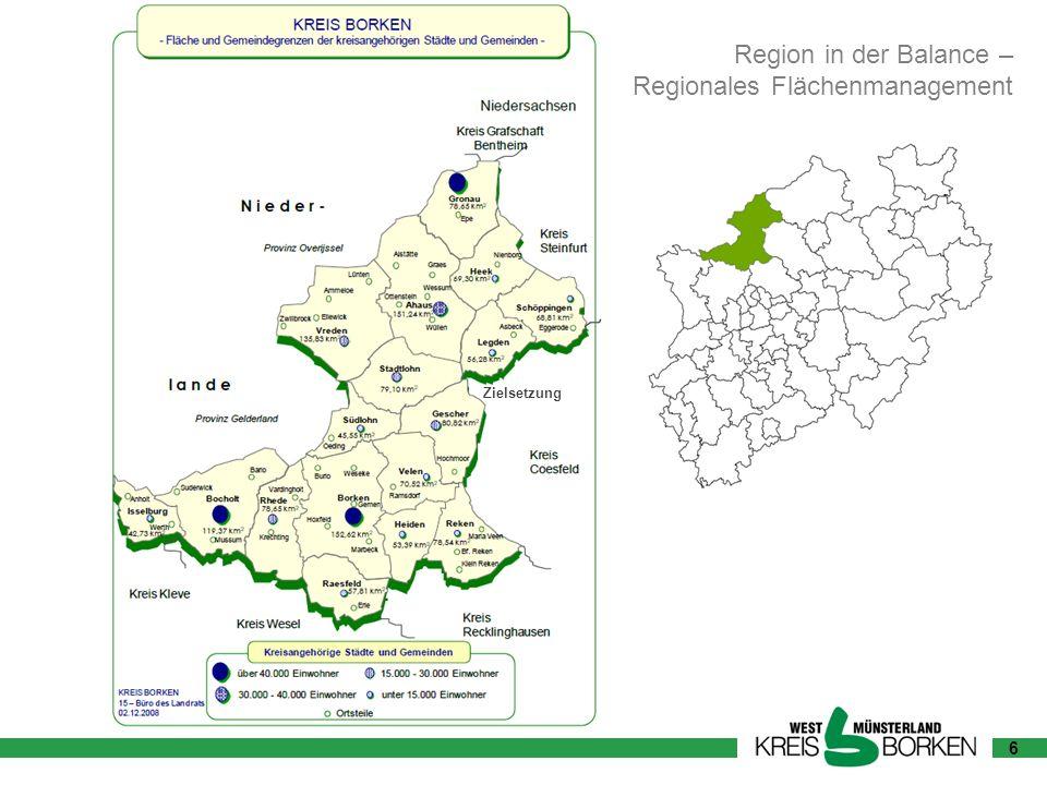 6 Region in der Balance – Regionales Flächenmanagement Zielsetzung