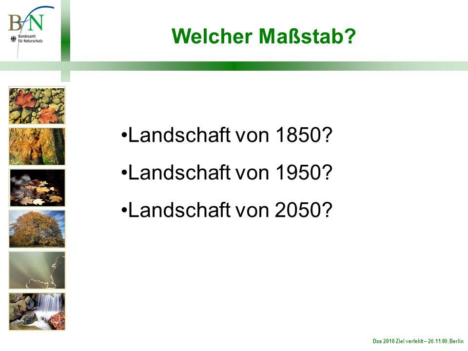 Das 2010 Ziel verfehlt – 26.11.09, Berlin Welcher Maßstab.