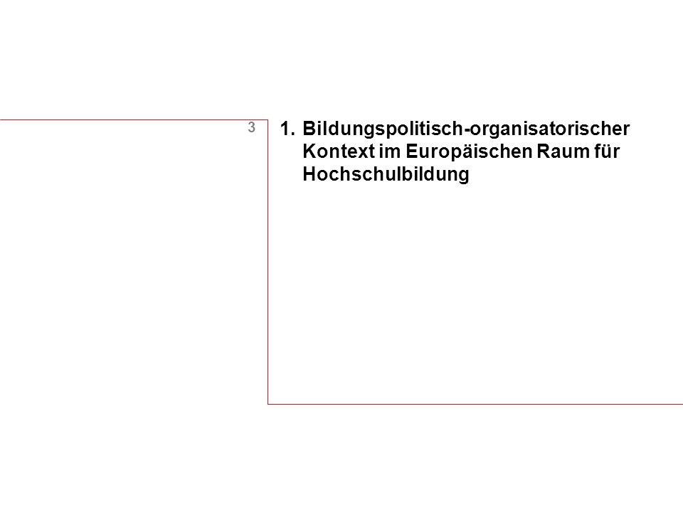 3 1.Bildungspolitisch-organisatorischer Kontext im Europäischen Raum für Hochschulbildung