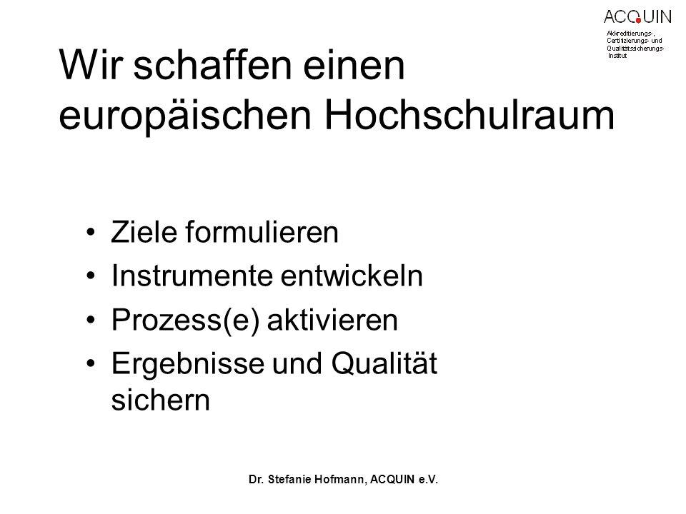 Dr.Stefanie Hofmann, ACQUIN e.V.