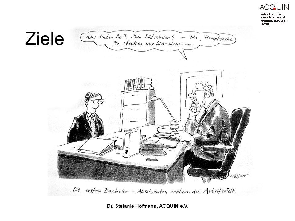 Dr. Stefanie Hofmann, ACQUIN e.V. Ziele