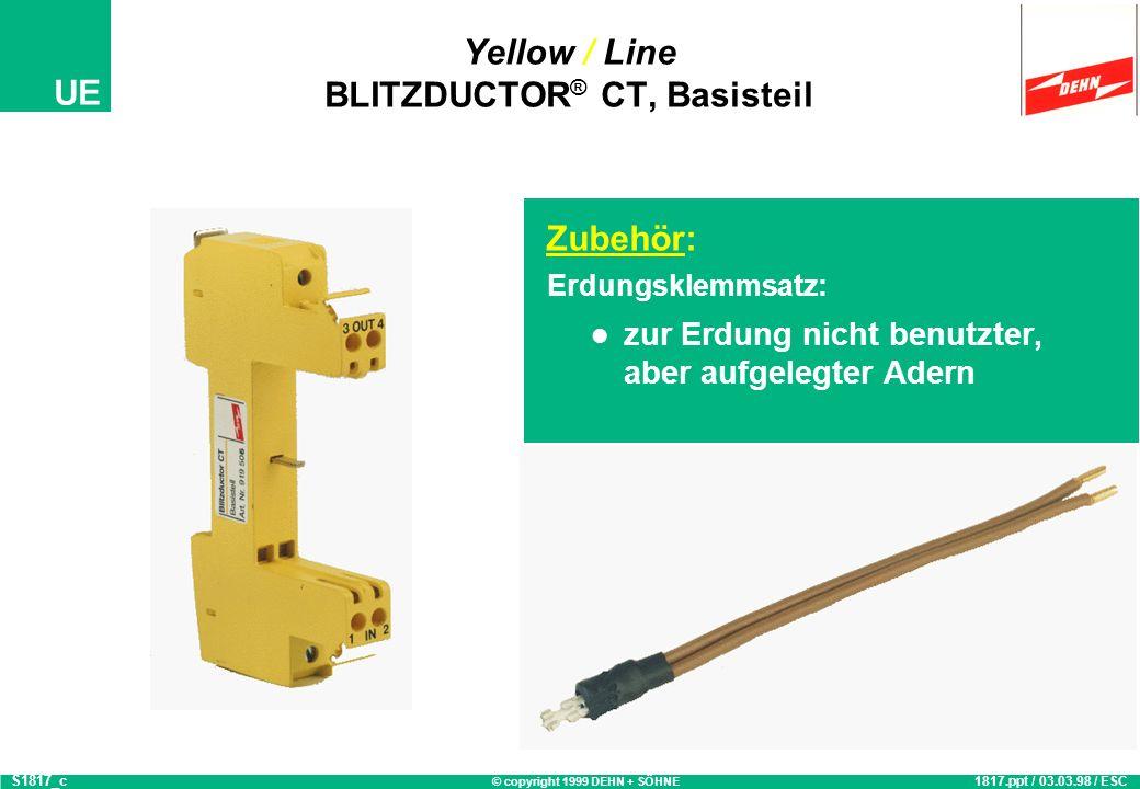 © copyright 1999 DEHN + SÖHNE UE Montagebeispiel Blitzductor CT 2534.ppt / 17.02.99 / CGS2534
