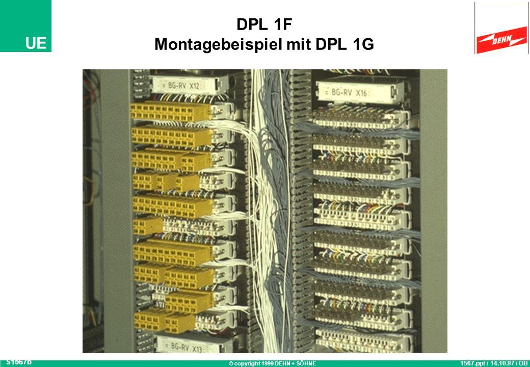 © copyright 1999 DEHN + SÖHNE UE Yellow / Line Überspannungs-Schutzstecker DPL 1 G S1840 1840.ppt / 27.02.98 / ESC Schutzgerät zum Aufstecken auf LSA