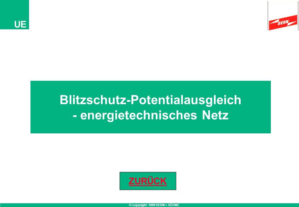 © copyright 1999 DEHN + SÖHNE UE Blitzschutz-Potentialausgleich - energietechnisches Netz ZURÜCK
