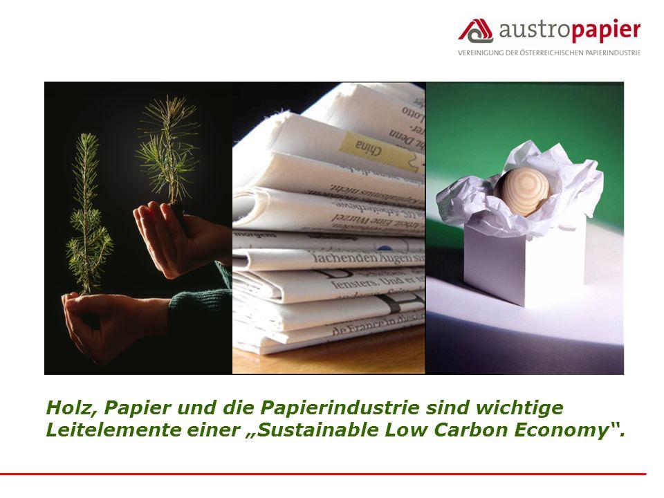 Holz, Papier und die Papierindustrie sind wichtige Leitelemente einer Sustainable Low Carbon Economy.