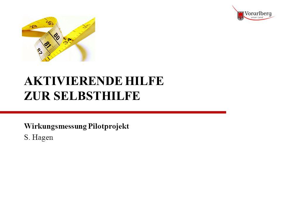 AKTIVIERENDE HILFE ZUR SELBSTHILFE Wirkungsmessung Pilotprojekt S. Hagen