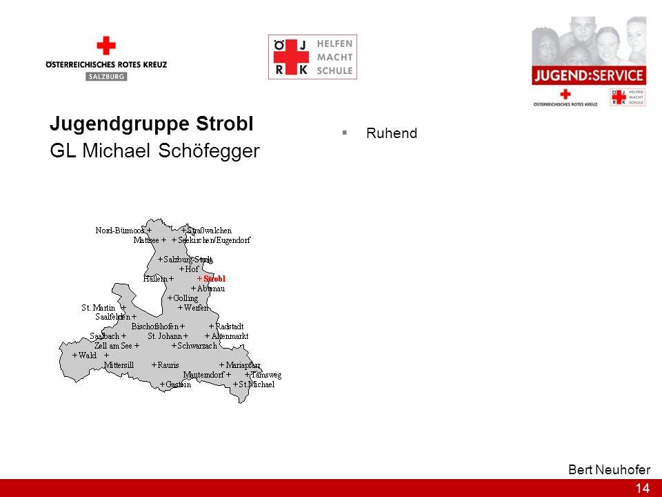 14 Bert Neuhofer Jugendgruppe Strobl GL Michael Schöfegger Ruhend