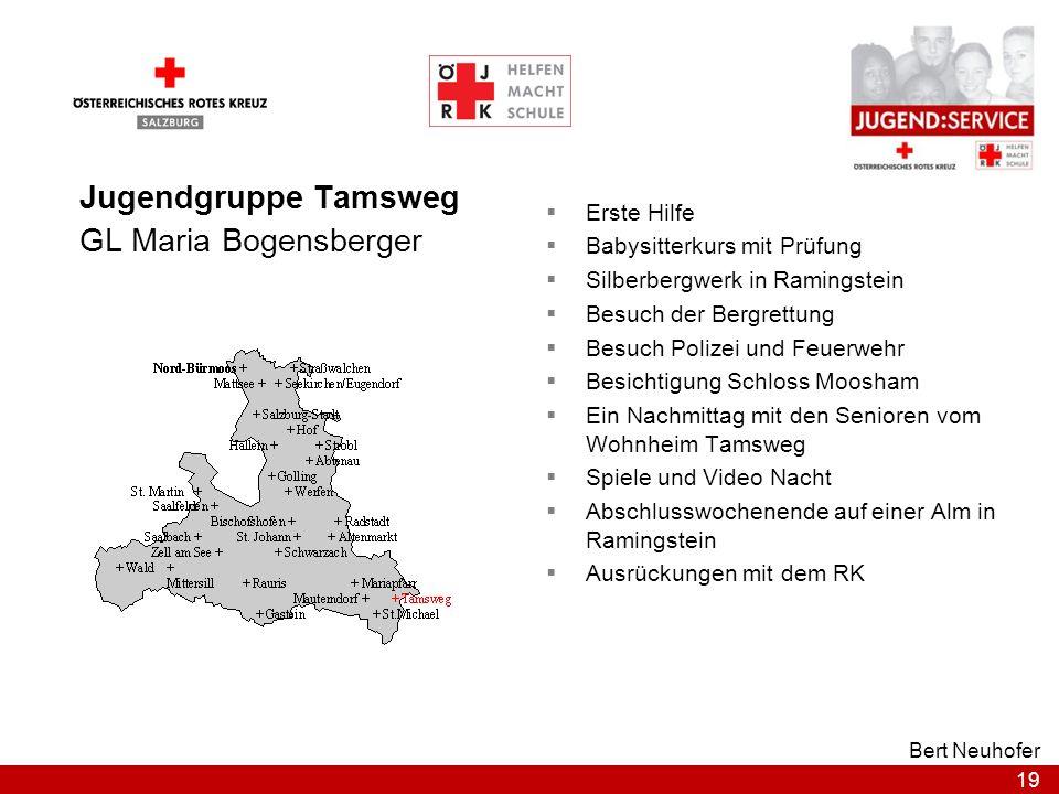 19 Bert Neuhofer Jugendgruppe Tamsweg GL Maria Bogensberger Erste Hilfe Babysitterkurs mit Prüfung Silberbergwerk in Ramingstein Besuch der Bergrettun