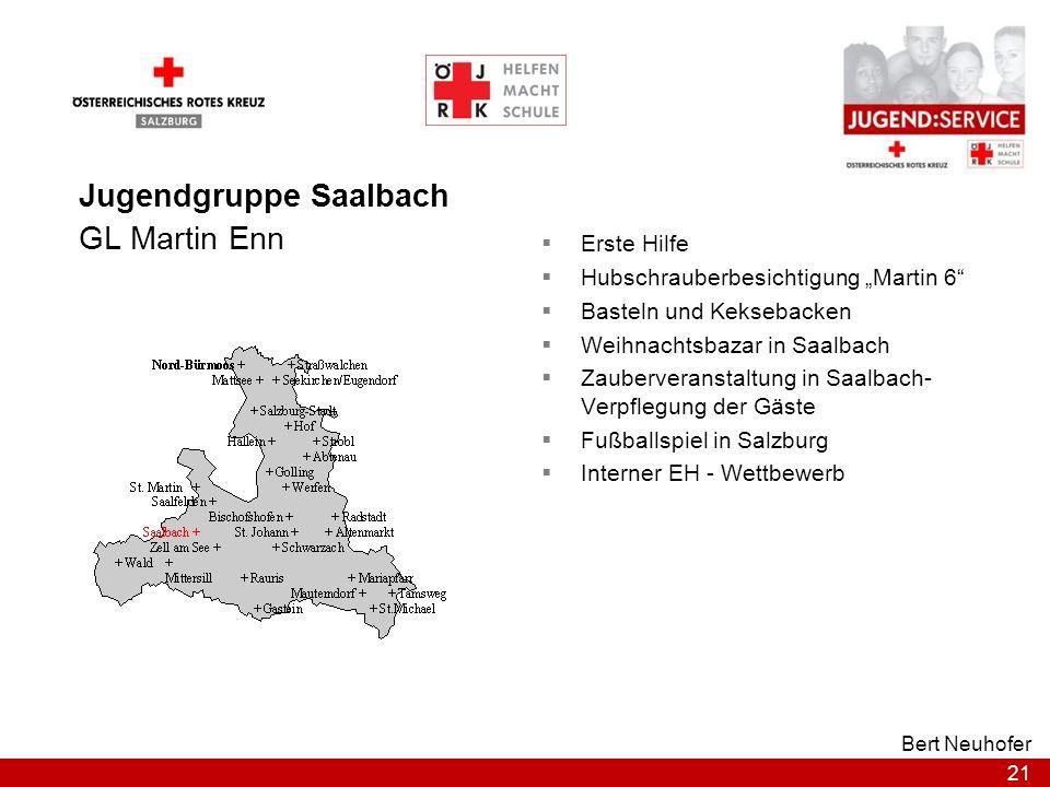 21 Bert Neuhofer Jugendgruppe Saalbach GL Martin Enn Erste Hilfe Hubschrauberbesichtigung Martin 6 Basteln und Keksebacken Weihnachtsbazar in Saalbach