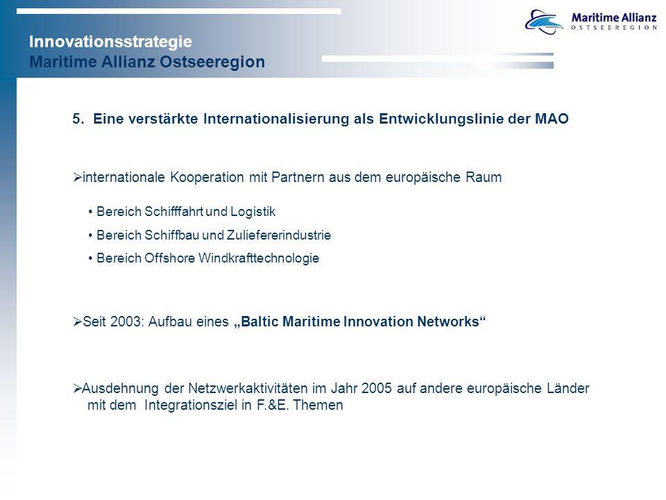 Innovationsstrategie Maritime Allianz Ostseeregion 6.