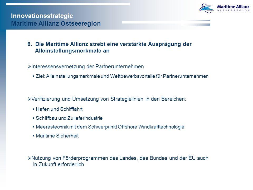 Innovationsstrategie Maritime Allianz Ostseeregion 7.