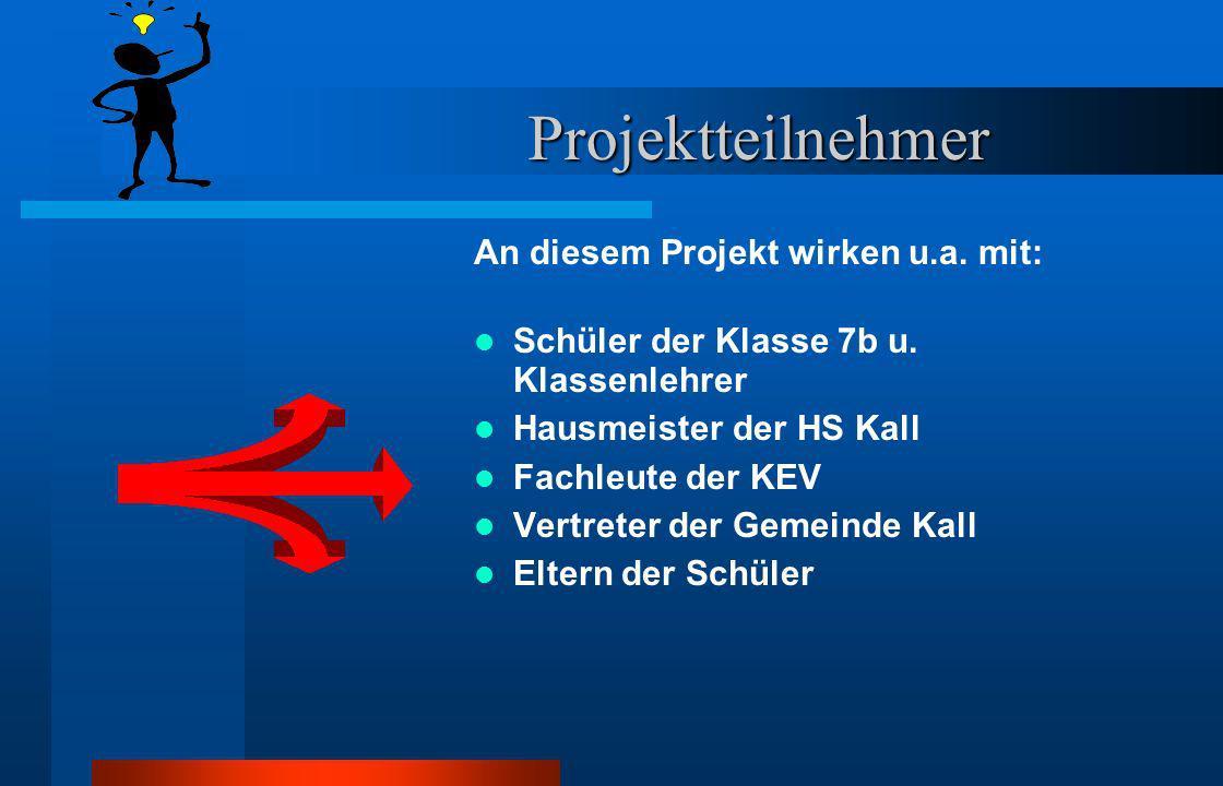 Projektteilnehmer An diesem Projekt wirken u.a.mit: Schüler der Klasse 7b u.