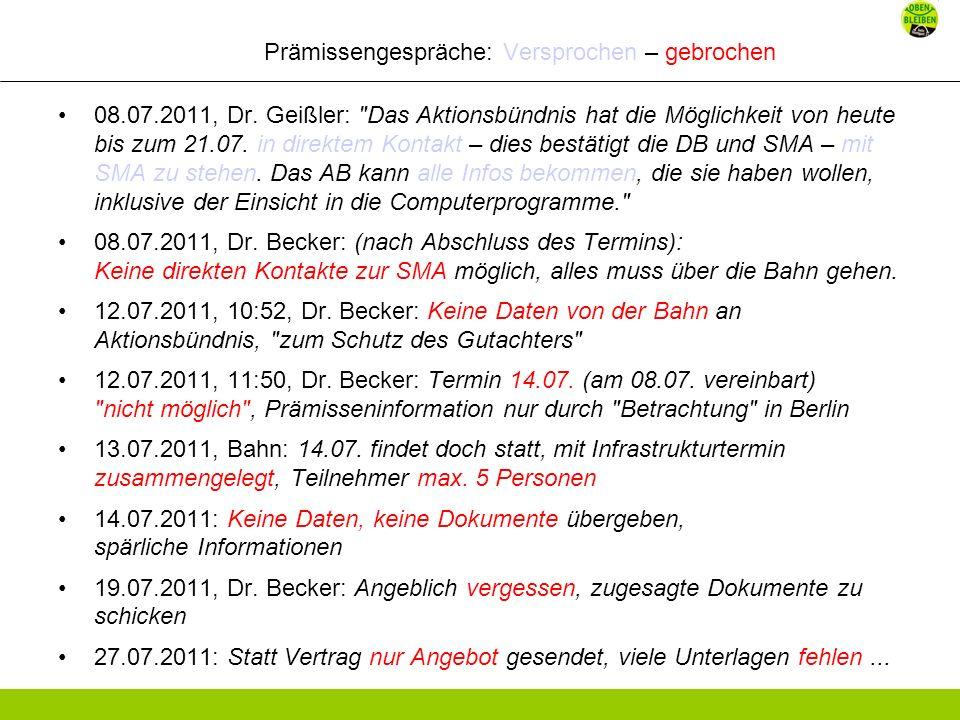 Prämissengespräche: Versprochen – gebrochen 08.07.2011, Dr.