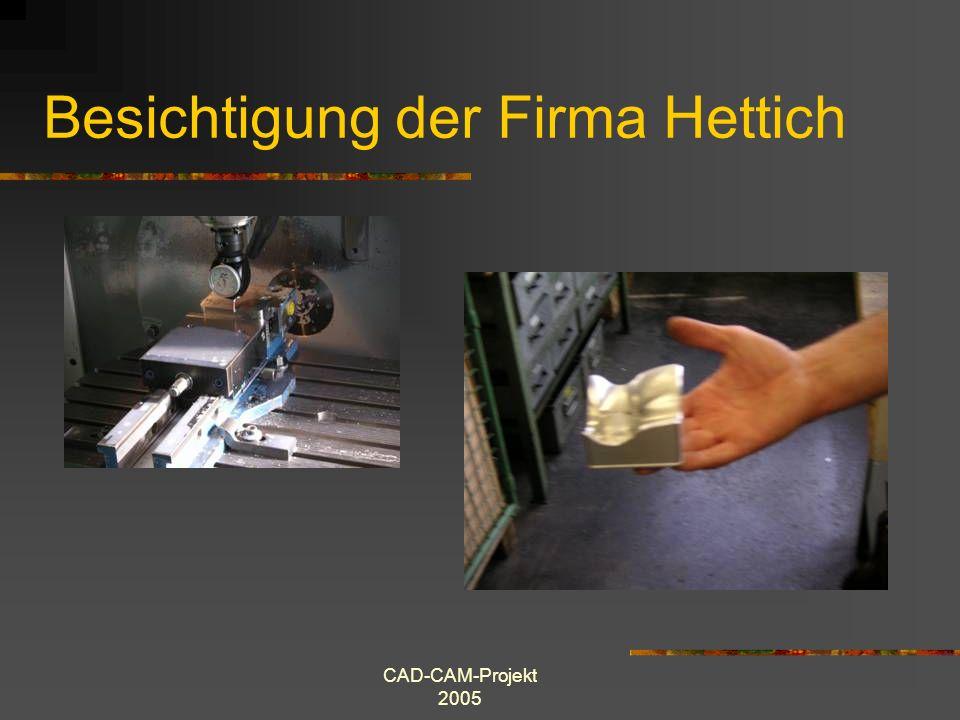 CAD-CAM-Projekt 2005 Besichtigung der Firma Günther