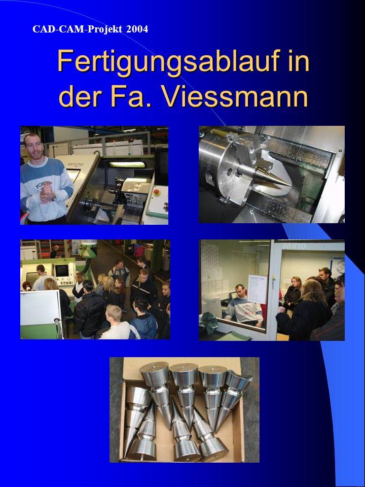 Fertigung der Spannvorrichtung in der Fa. Metak CAD-CAM-Projekt 2004