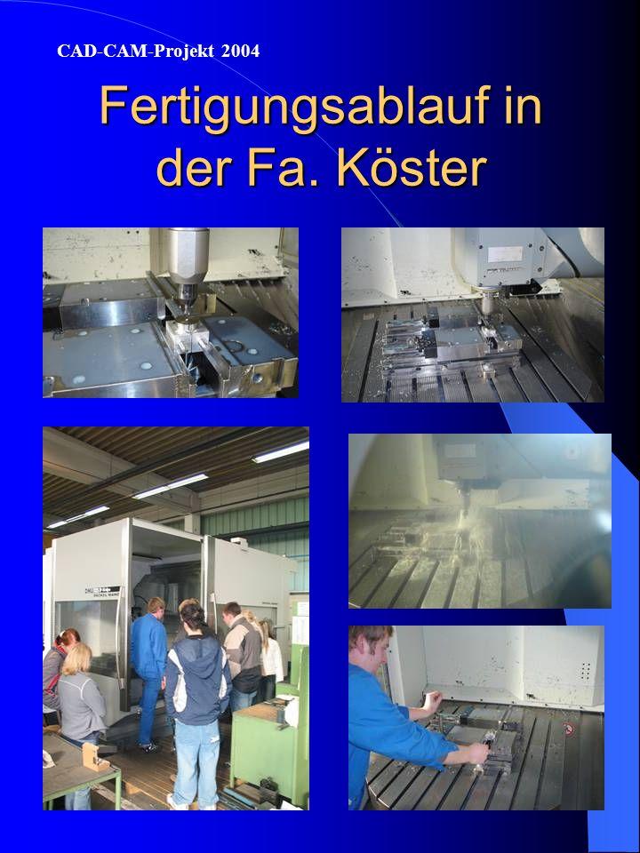 Fertigungsablauf in der Fa. Viessmann CAD-CAM-Projekt 2004