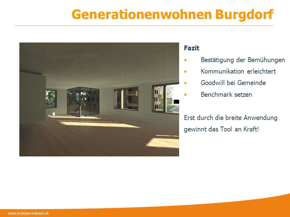 www.losinger-marazzi.ch Danke für Ihre Aufmerksamkeit! ZUKUNFT VERPFLICHTET www.losinger-marazzi.ch