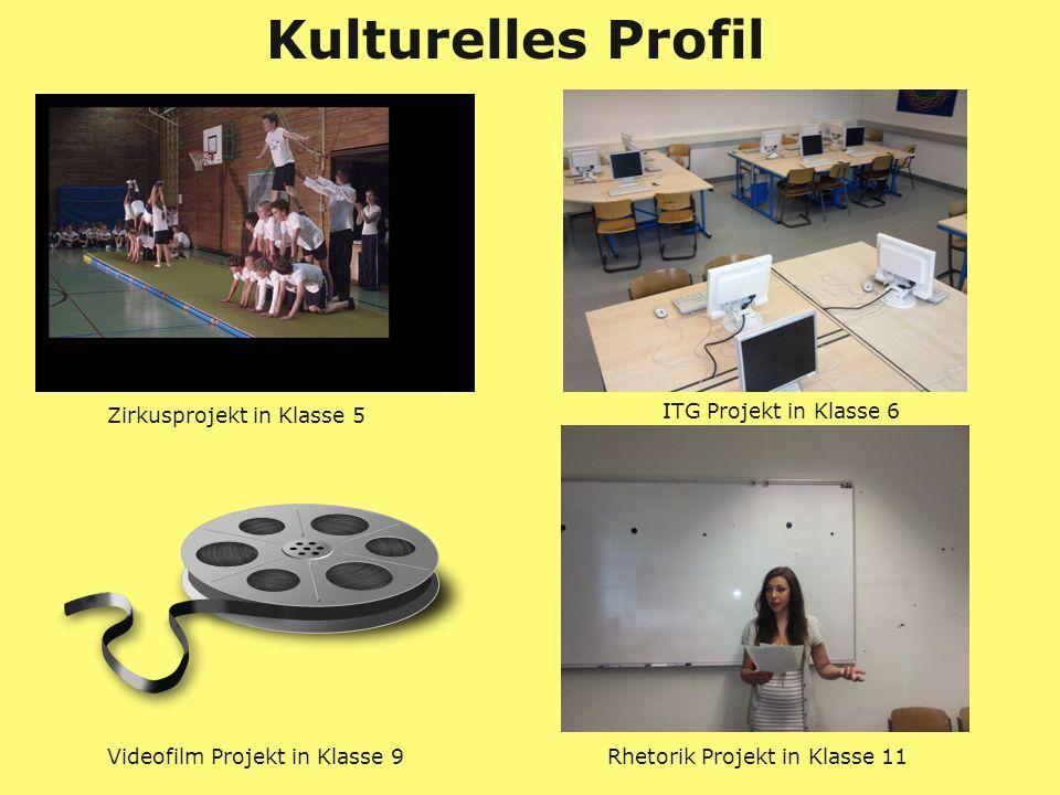 Zirkusprojekt in Klasse 5 Videofilm Projekt in Klasse 9 Rhetorik Projekt in Klasse 11 Kulturelles Profil ITG Projekt in Klasse 6