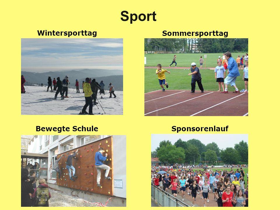 Bewegte SchuleSponsorenlauf Wintersporttag Sommersporttag Sport