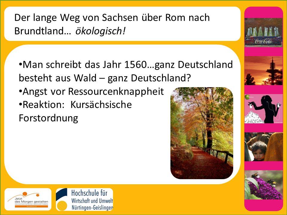 Der lange Weg von Sachsen über Rom nach Brundtland… ökologisch.