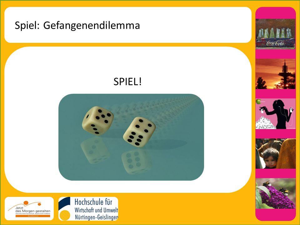 Spiel: Gefangenendilemma SPIEL!