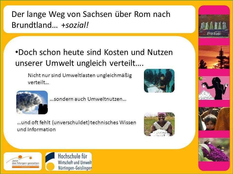Der lange Weg von Sachsen über Rom nach Brundtland… +sozial.