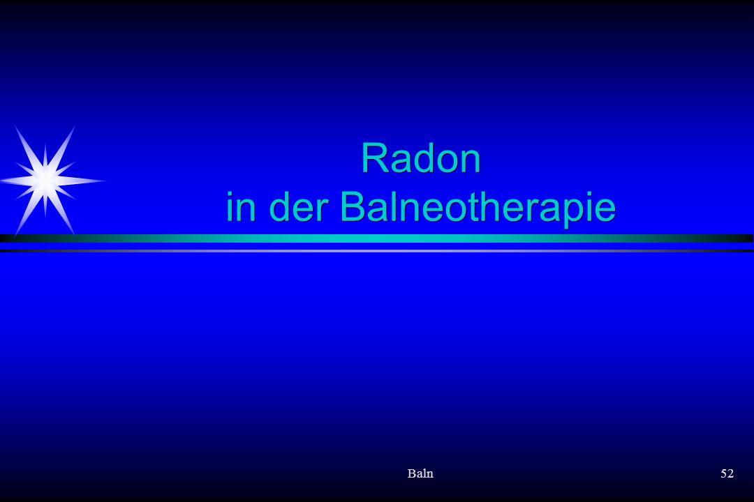 Baln52 Radon in der Balneotherapie
