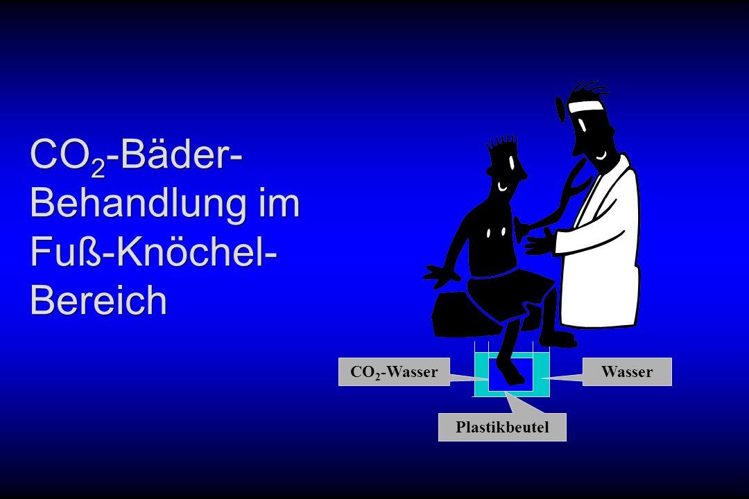 CO 2 -Bäder- Behandlung im Fuß-Knöchel- Bereich Wasser CO 2 -Wasser Plastikbeutel