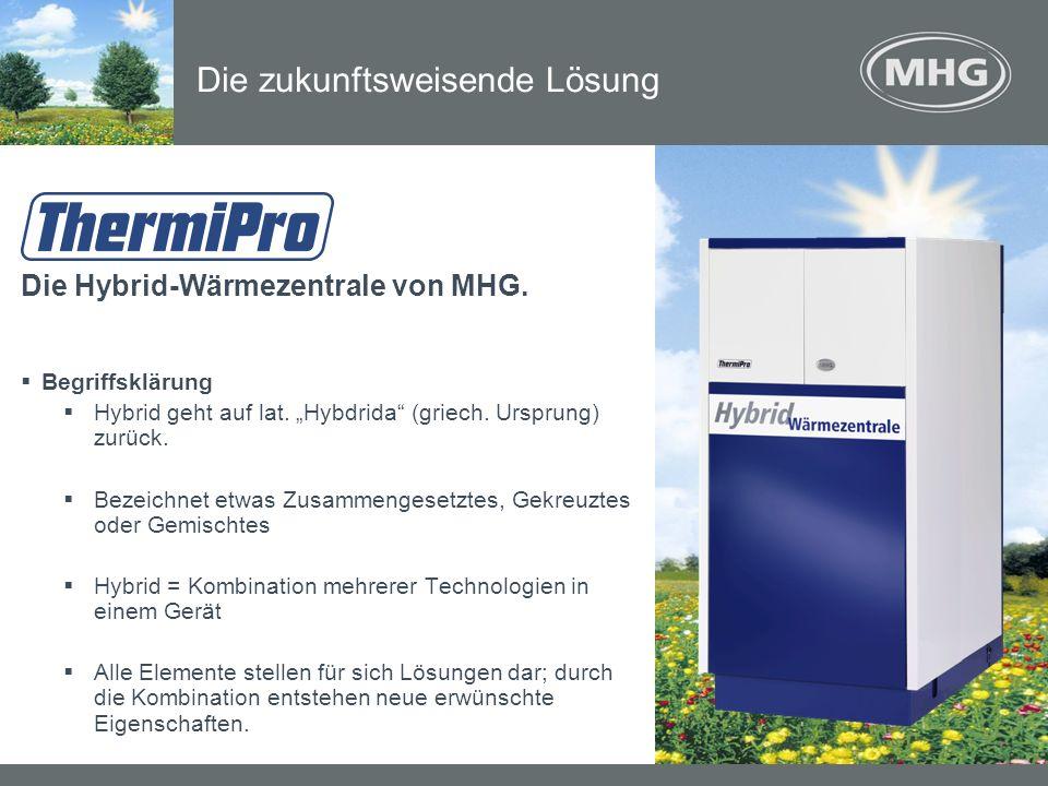 Die Hybrid-Wärmezentrale von MHG. Begriffsklärung Hybrid geht auf lat. Hybdrida (griech. Ursprung) zurück. Bezeichnet etwas Zusammengesetztes, Gekreuz