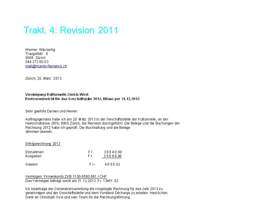 Trakt. 4: Revision 2011