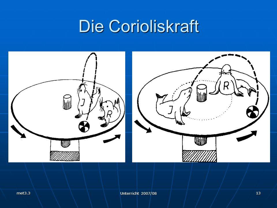 met3.3 Unterricht 2007/08 13 Die Corioliskraft