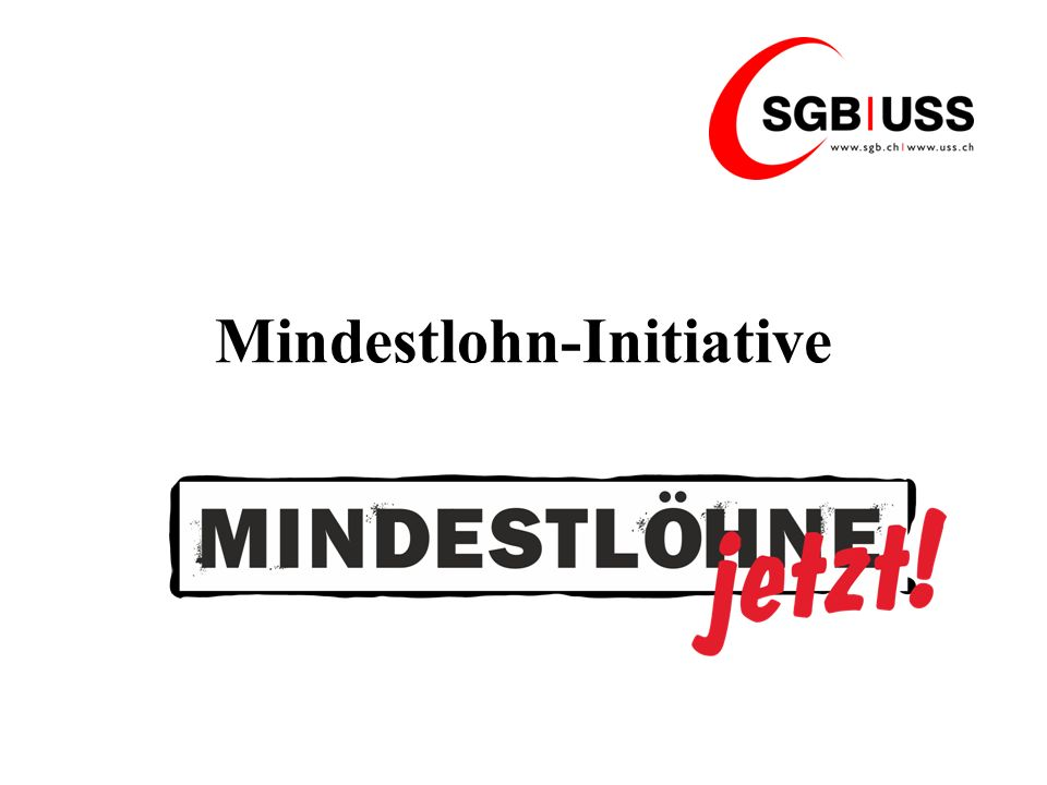 Mindestlohn-Initiative