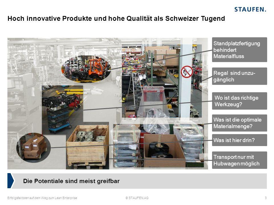 Hoch innovative Produkte und hohe Qualität als Schweizer Tugend Erfolgsfaktoren auf dem Weg zum Lean Enterprise© STAUFEN.AG3 Die Potentiale sind meist