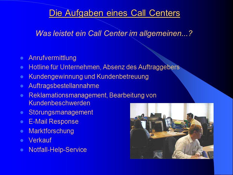 Telefondienst Telefondienst Gestern: Gestrige und oftmals auch heutige Telefone/IT-Systeme erlauben unterschiedliche, direkte Zugänge auf die Experten eines Unternehmens mit den bekannten Folgen wie: - Weiterverbinden - Nicht-Erreichbarkeit - Inkompetenz des erreichten Ansprechpartners - nach Medium getrennte Kommunikation Call Center Call Center Customer Care Center