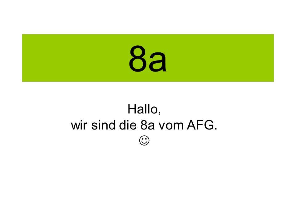 8a Hallo, wir sind die 8a vom AFG.