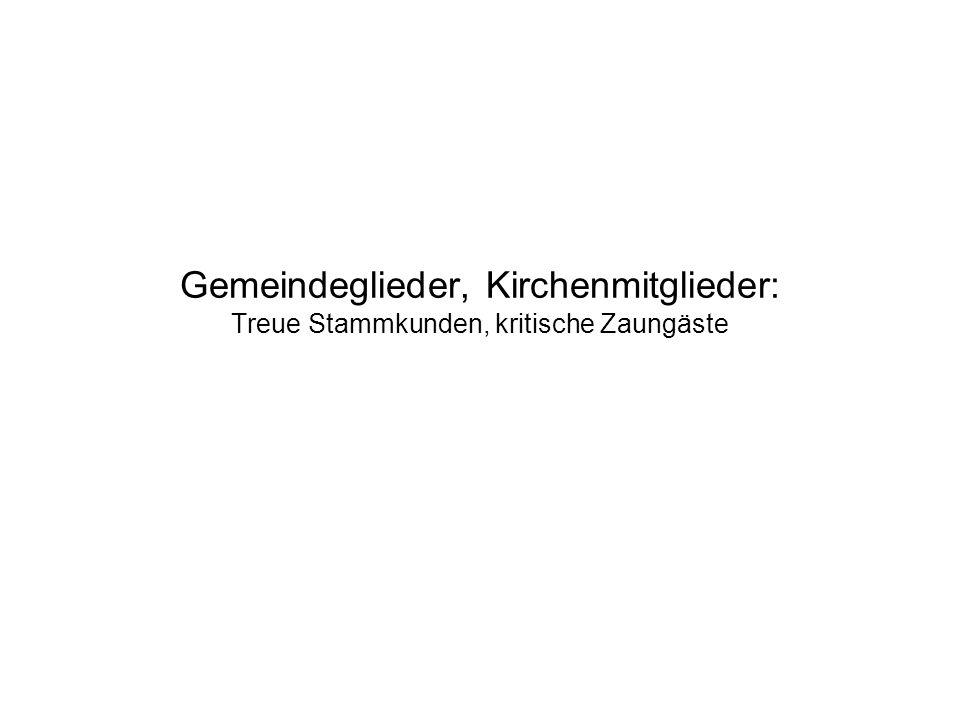 Gemeindeglieder, Kirchenmitglieder: Treue Stammkunden, kritische Zaungäste